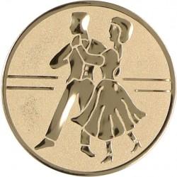 Emblemat samoprzylepny złoty - taniec towarzyski - D1-A24
