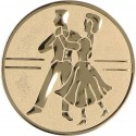 Emblemat samoprzylepny złoty - taniec towarzyski - D2-A24