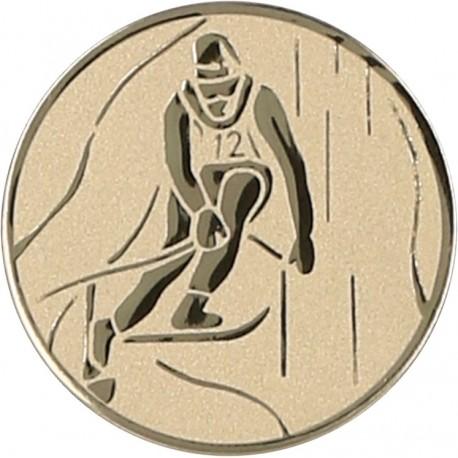 Emblemat samoprzylepny złoty - narciarstwo alpejskie - D1-A93/G