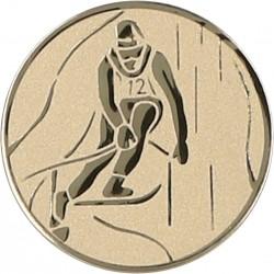 Emblemat samoprzylepny złoty - narciarstwo alpejskie - D2-A93/G