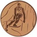 Emblemat samoprzylepny brązowy - narciarstwo alpejskie - D1-A93/B