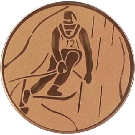 Emblemat samoprzylepny brązowy - narciarstwo alpejskie - D2-A93/B
