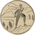 Emblemat samoprzylepny złoty - narciarstwo klasyczne - D1-A94/G