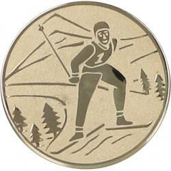 Emblemat samoprzylepny złoty - narciarstwo klasyczne - D2-A94/G