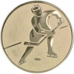 Emblemat samoprzylepny złoty - hokej na lodzie - D2-A106