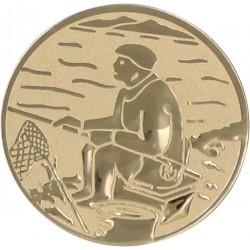 Emblemat samoprzylepny złoty - wędkarstwo - D1-A55