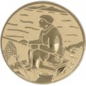 Emblemat samoprzylepny złoty - wędkarstwo - D2-A55