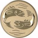 Emblemat samoprzylepny złoty - wędkarstwo - D1-A56
