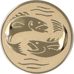 Emblemat samoprzylepny złoty - wędkarstwo - D2-A56