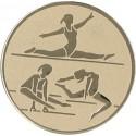 Emblemat samoprzylepny złoty - gimnastyka artystyczna - D2-A130