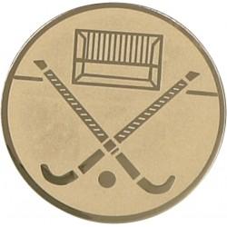 Emblemat samoprzylepny złoty - hokej na trawie - D1-A140