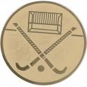 Emblemat samoprzylepny złoty - hokej na trawie - D2-A140
