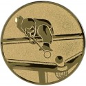 Emblemat samoprzylepny złoty - bilard - D1-A98