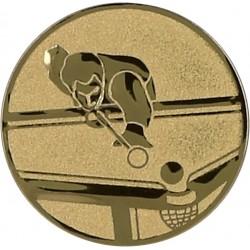 Emblemat samoprzylepny złoty - bilard - D2-A98