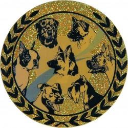 Emblemat hologramowy - psy - AGM257