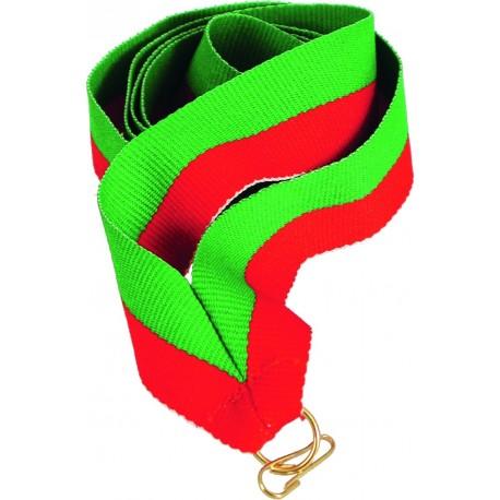 """Wstążka do medalu - """"Zielono-czerwona"""" 11 mm - V8-GN/R"""