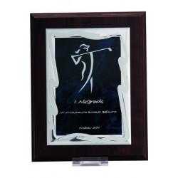 Dyplom drewniany MDF z blaszką grawerowaną - HG83
